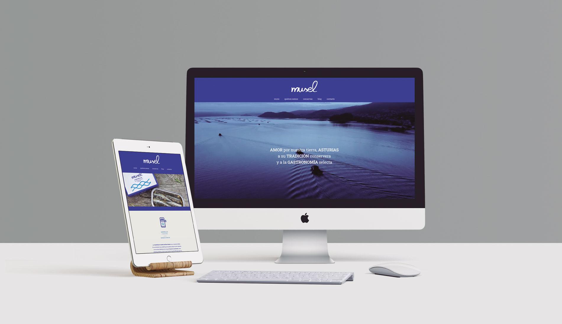 El Musel, página web