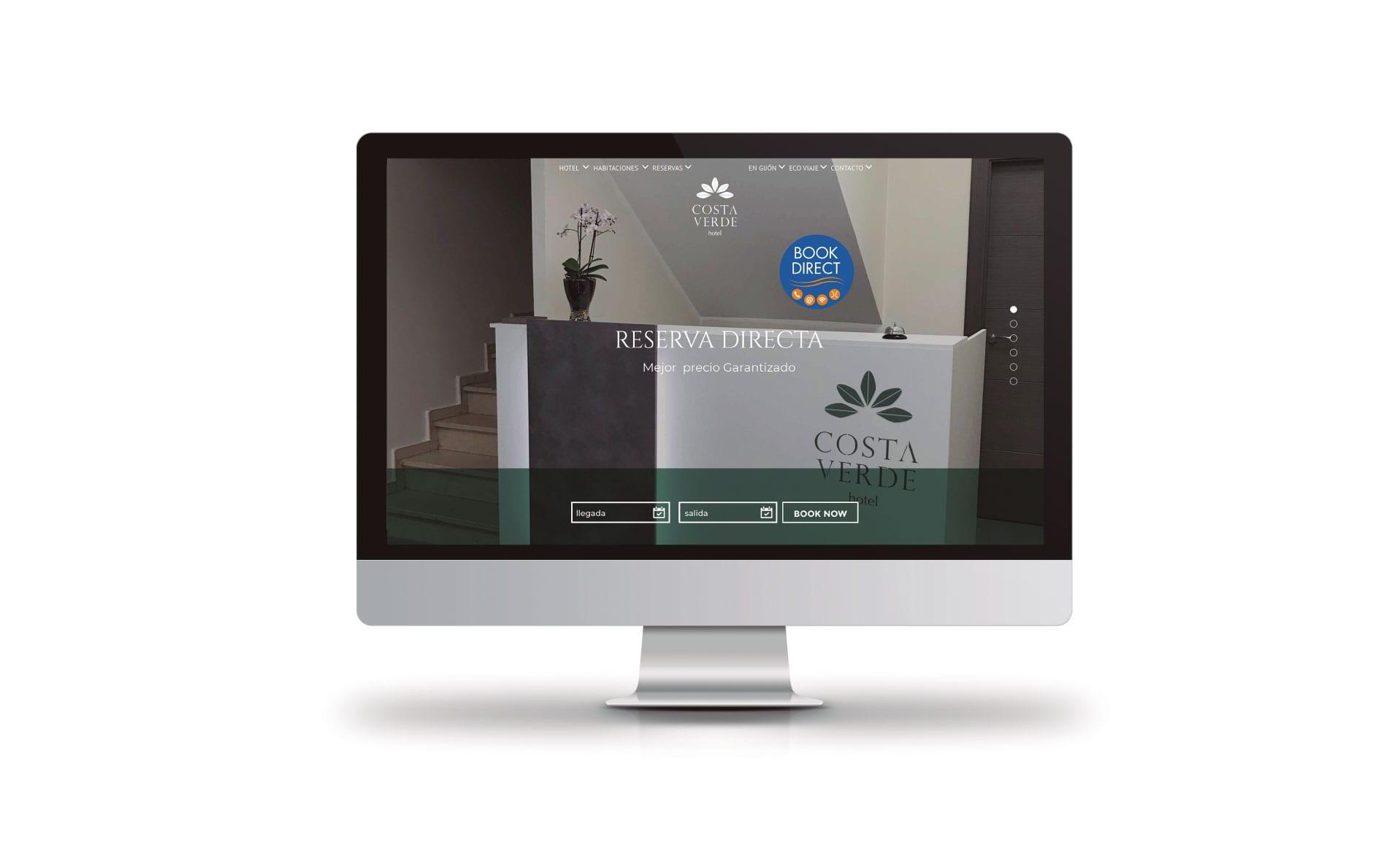 Diseño web para Hotel Costa Verde
