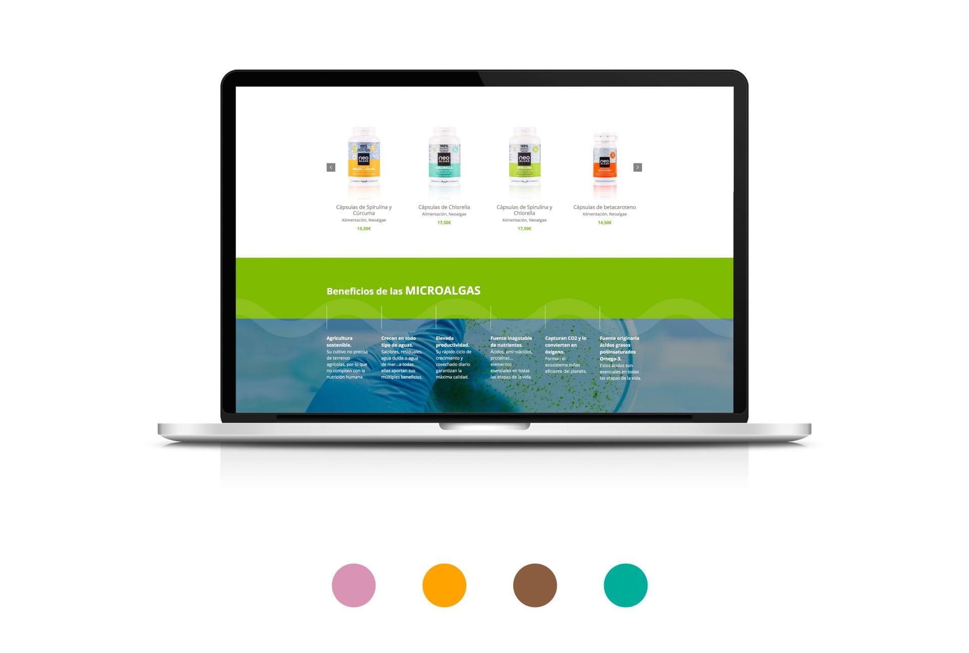 Tienda online para Neoalgae, expertos en Microalgas