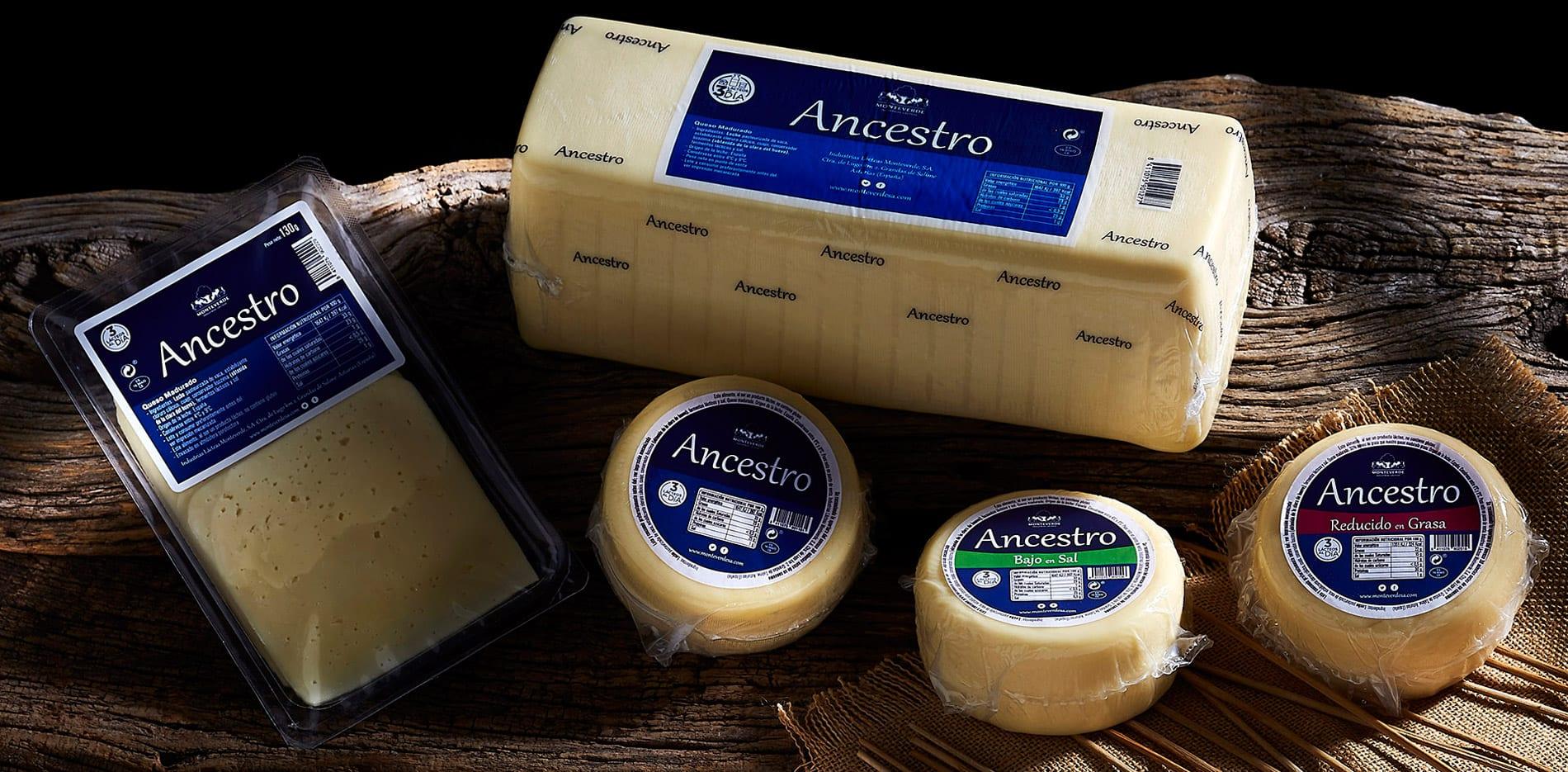 Restyling marca de queso Ancestro