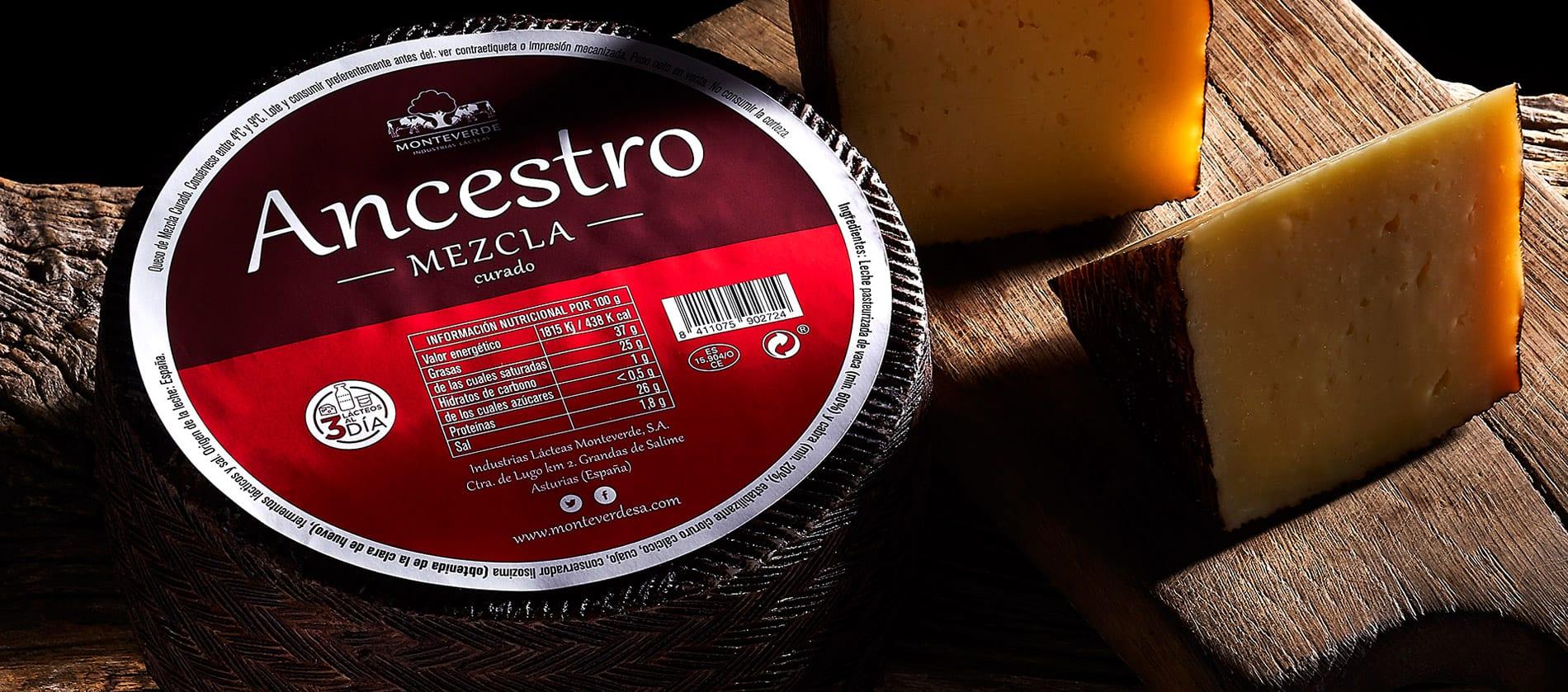 Restyling marca de queso Ancestro mezcla