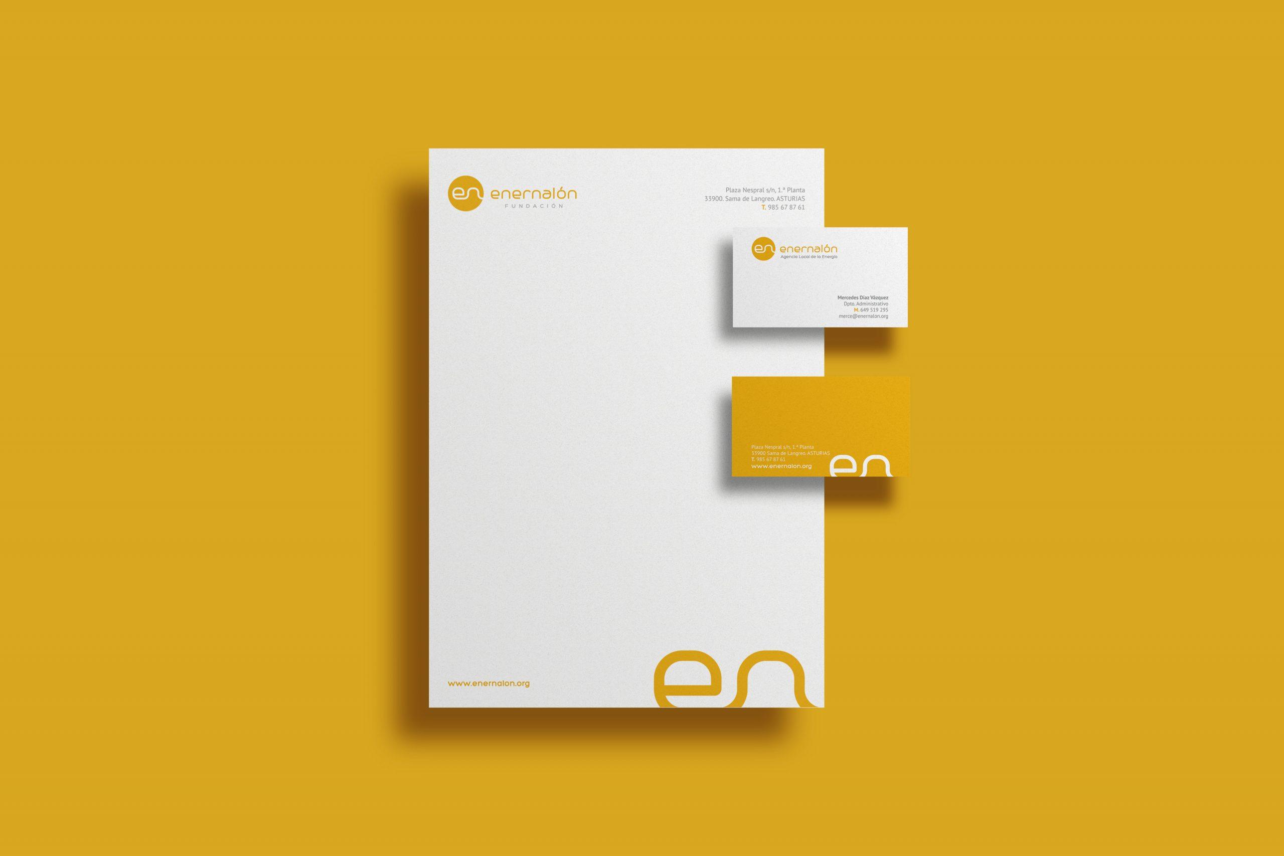 Diseño de papelería corporativa para Enernalón